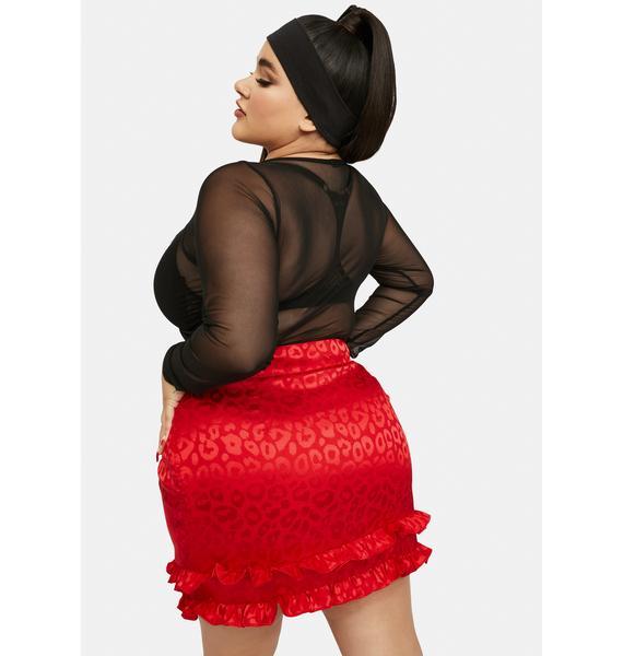 Ruby She's Fierce For U Leopard Mini Skirt
