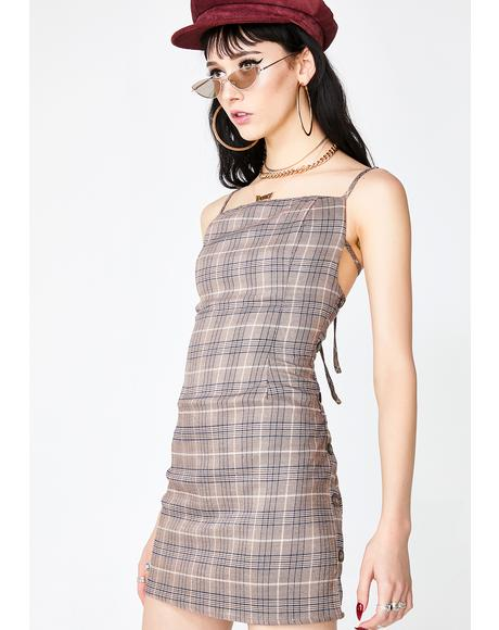 Mini Bite Plaid Dress