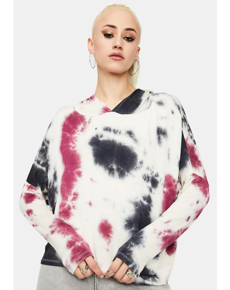 Not In The Mood Tie Dye Hoodie