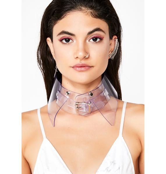 Apatico Clear Shirt Collar Choker