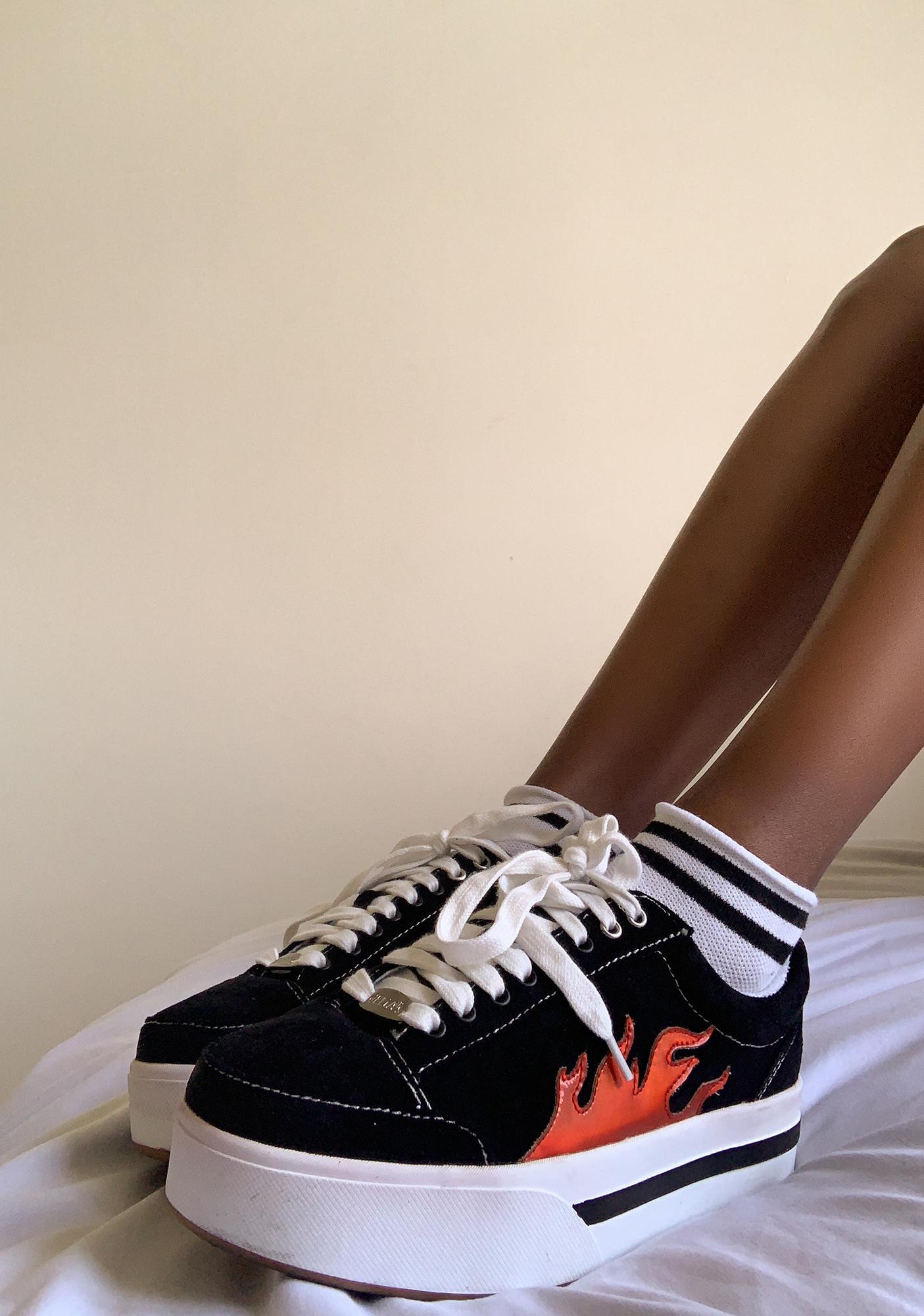 dELiA*s by Dolls Kill Blazing Cosmic Kick Skater Sneakers