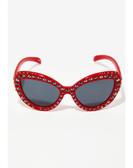 Cherry Money Ain't A Thang Sunglasses