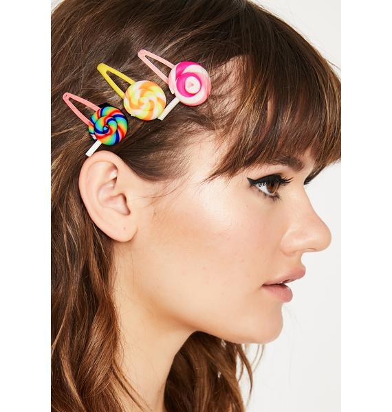 Factory Of Sweetz Lollipop Hair Clips