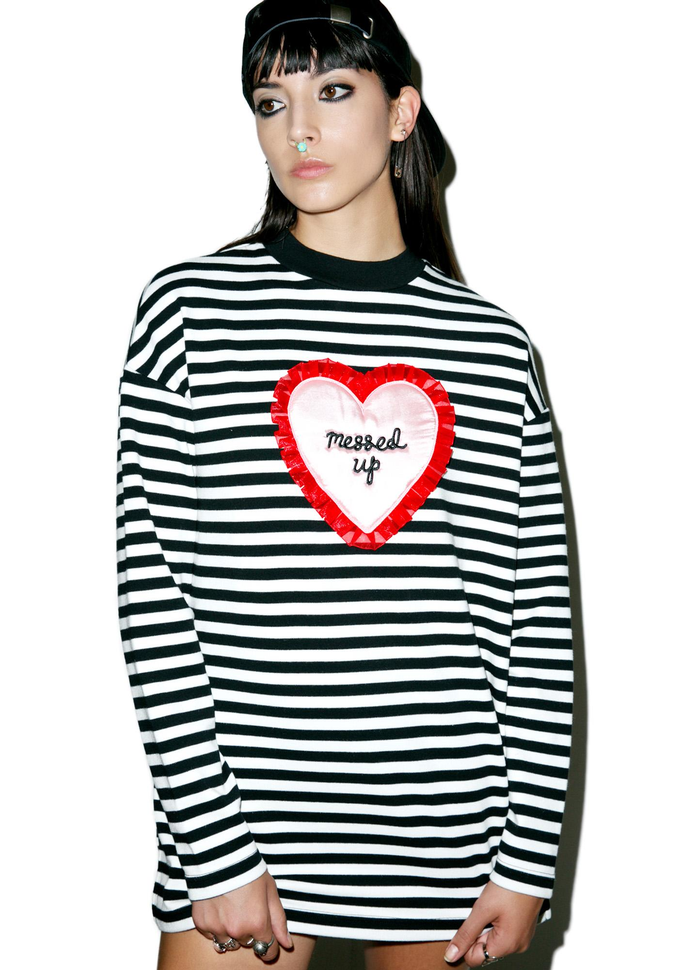 Lazy Oaf Messed Up Long Sleeve Tee