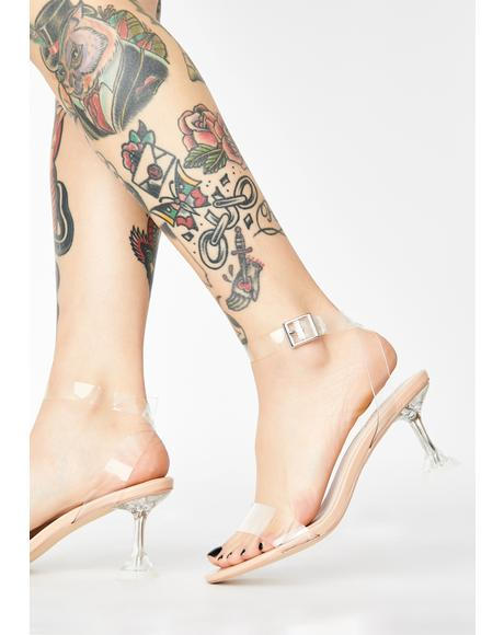 Smooth As Glass Clear Heels