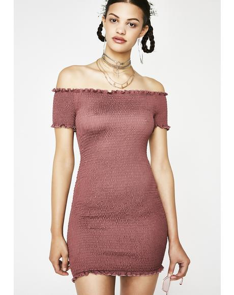 Sweet Spot Off The Shoulder Dress