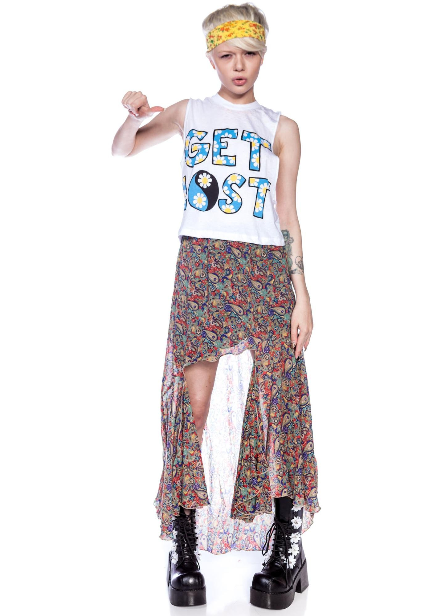 Jac Vanek Get Lost Burnout Crop Top