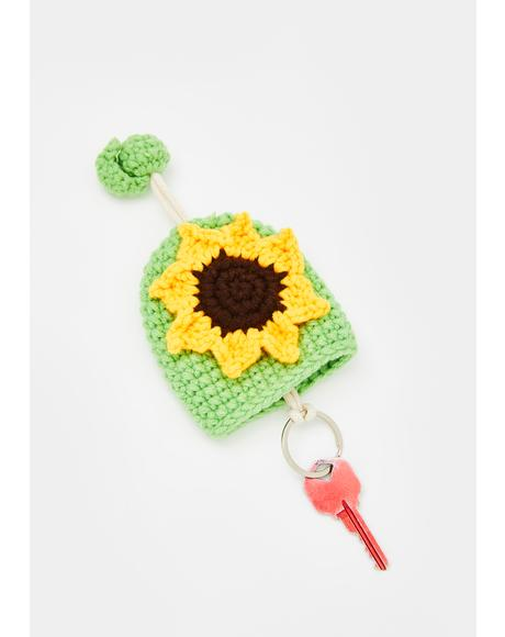 From The Garden Knit Key Cover