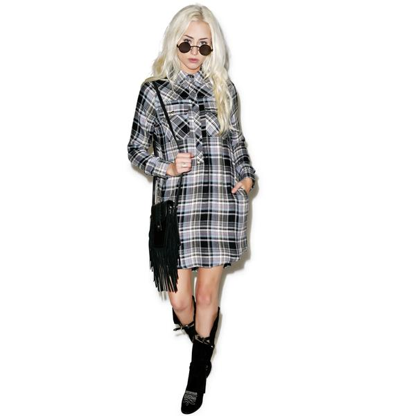 Tai Flannel Shirt Dress