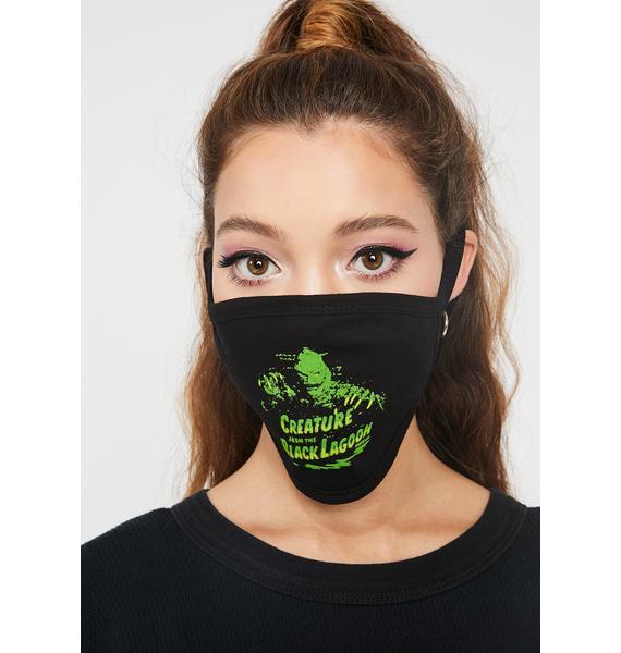 Rock Rebel Green Creature Face Mask