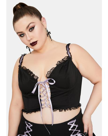 Tale Of Minxes And Men Lace Up Bustier Top