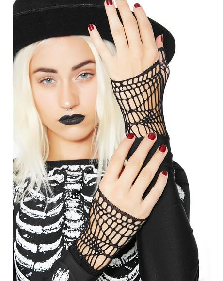 In My Web Fingerless Gloves