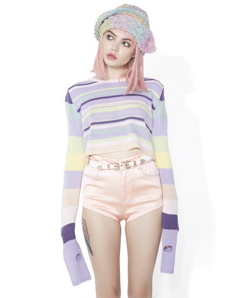 Sugarplum Visionz Cropped Sweater