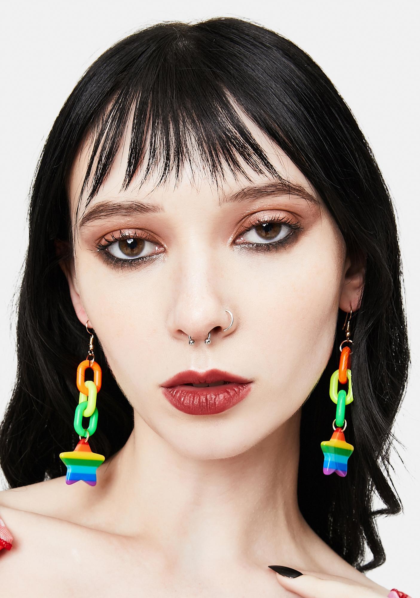 Life In Technicolor Drop Earrings