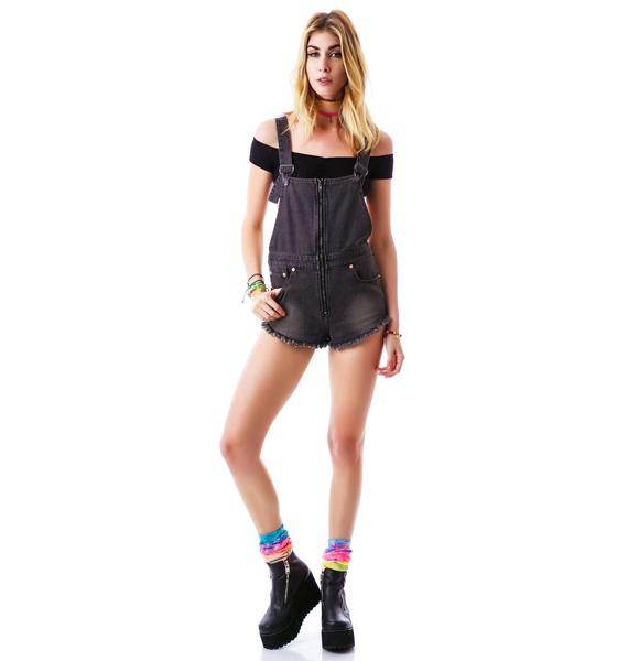 Zion Zip Front Overall Shorts