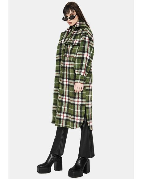 Plaid Please Long Jacket