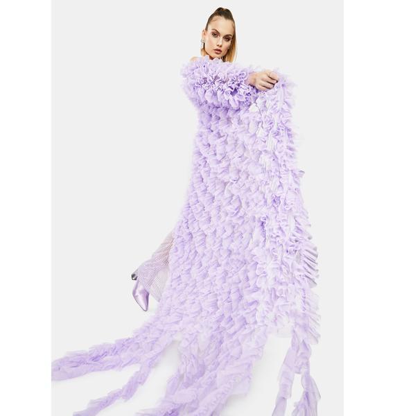 Kiki Riki Lilac Tulle Ruffle Robe