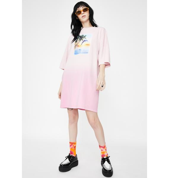 Lazy Oaf Beach Babe T-Shirt Dress