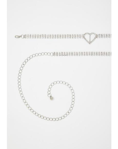 Simple Lyfe Rhinestone Belly Chain