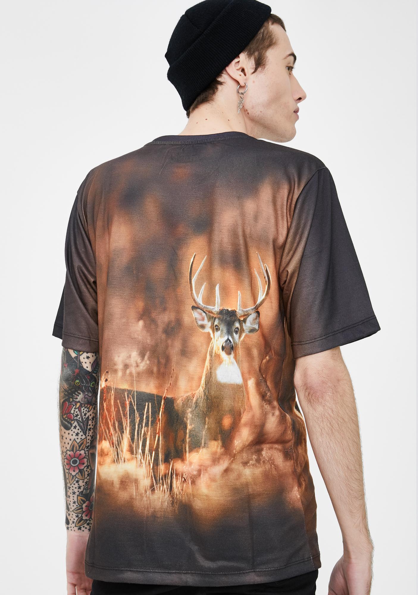 Wildkind Subliminal Animal Buck Graphic Tee