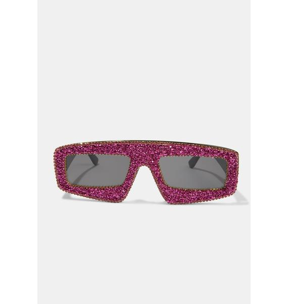 Gossip Glam Shield Sunglasses