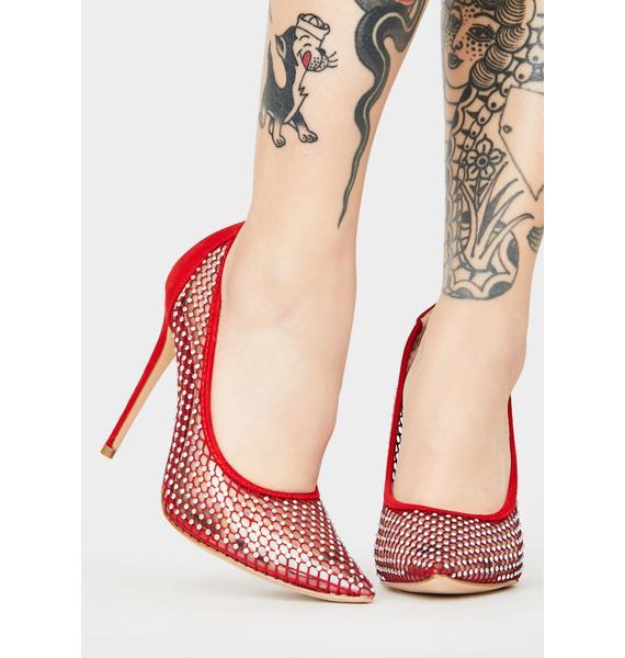 Scarlet Chic Surveillance Stiletto Heels