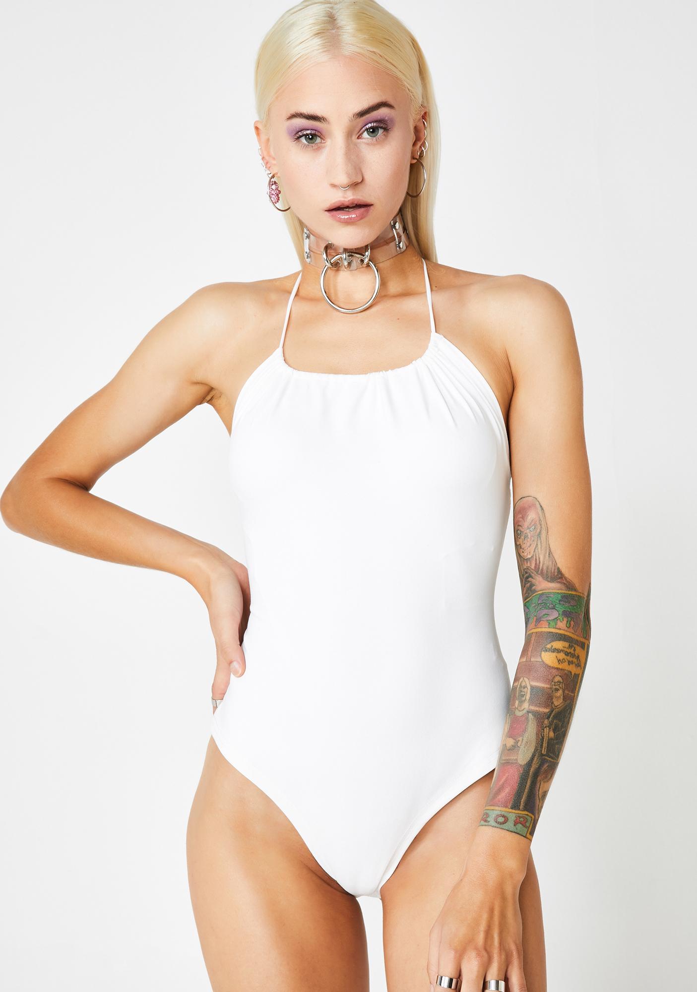 Pure Straight Sass Strappy Bodysuit