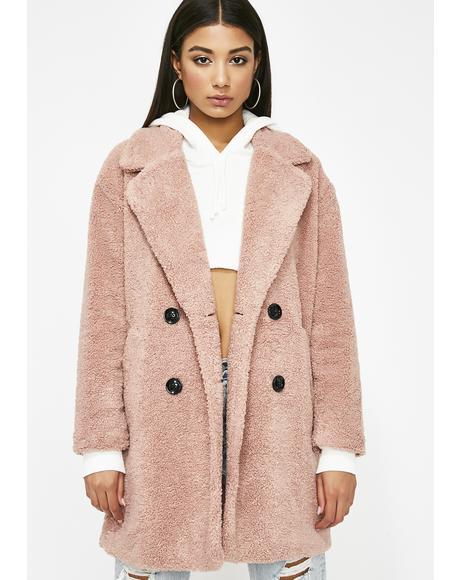 Uptown Bae Fuzzy Coat