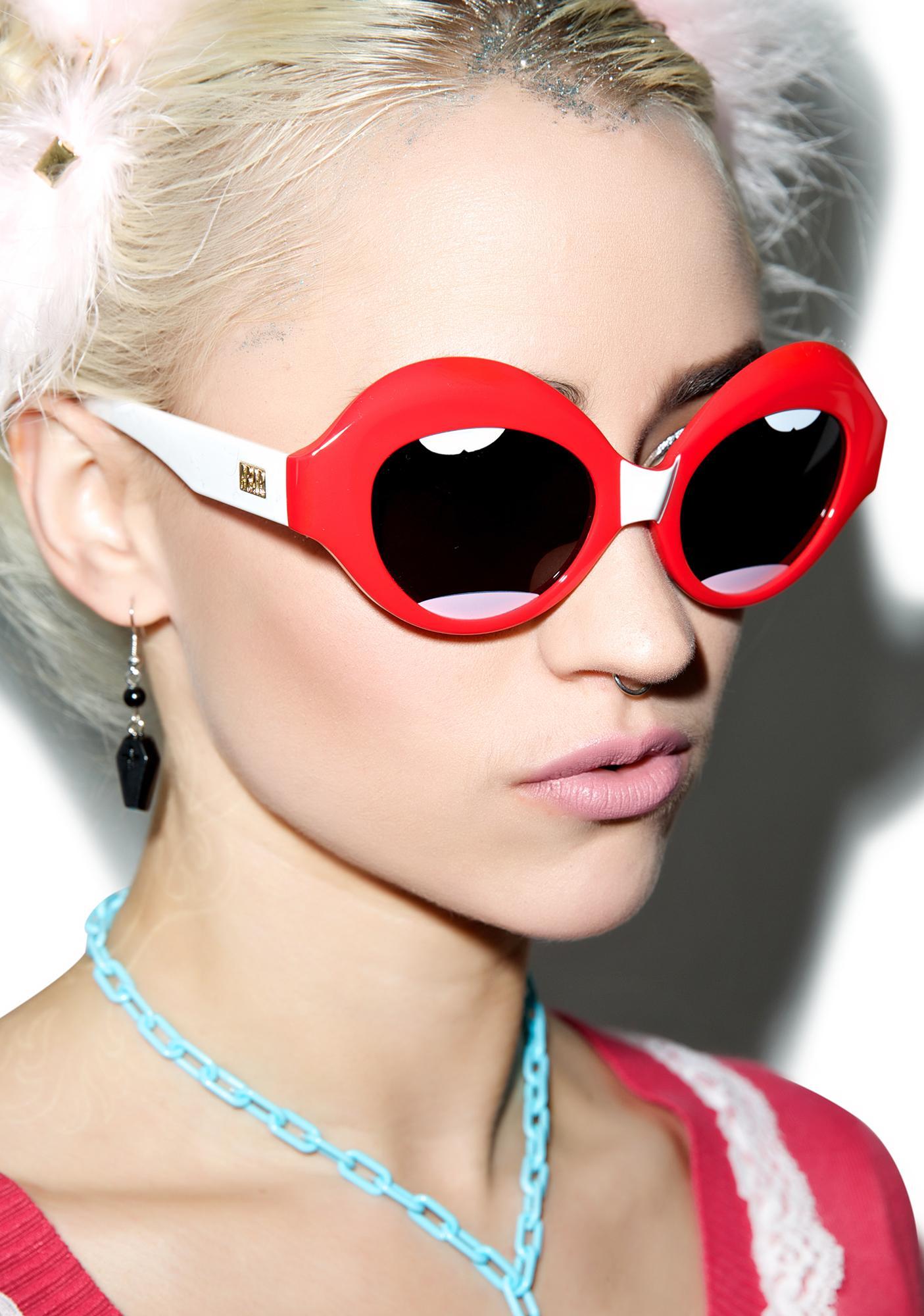 Crap Eyewear The Lips Saloma Tropic Sunglasses