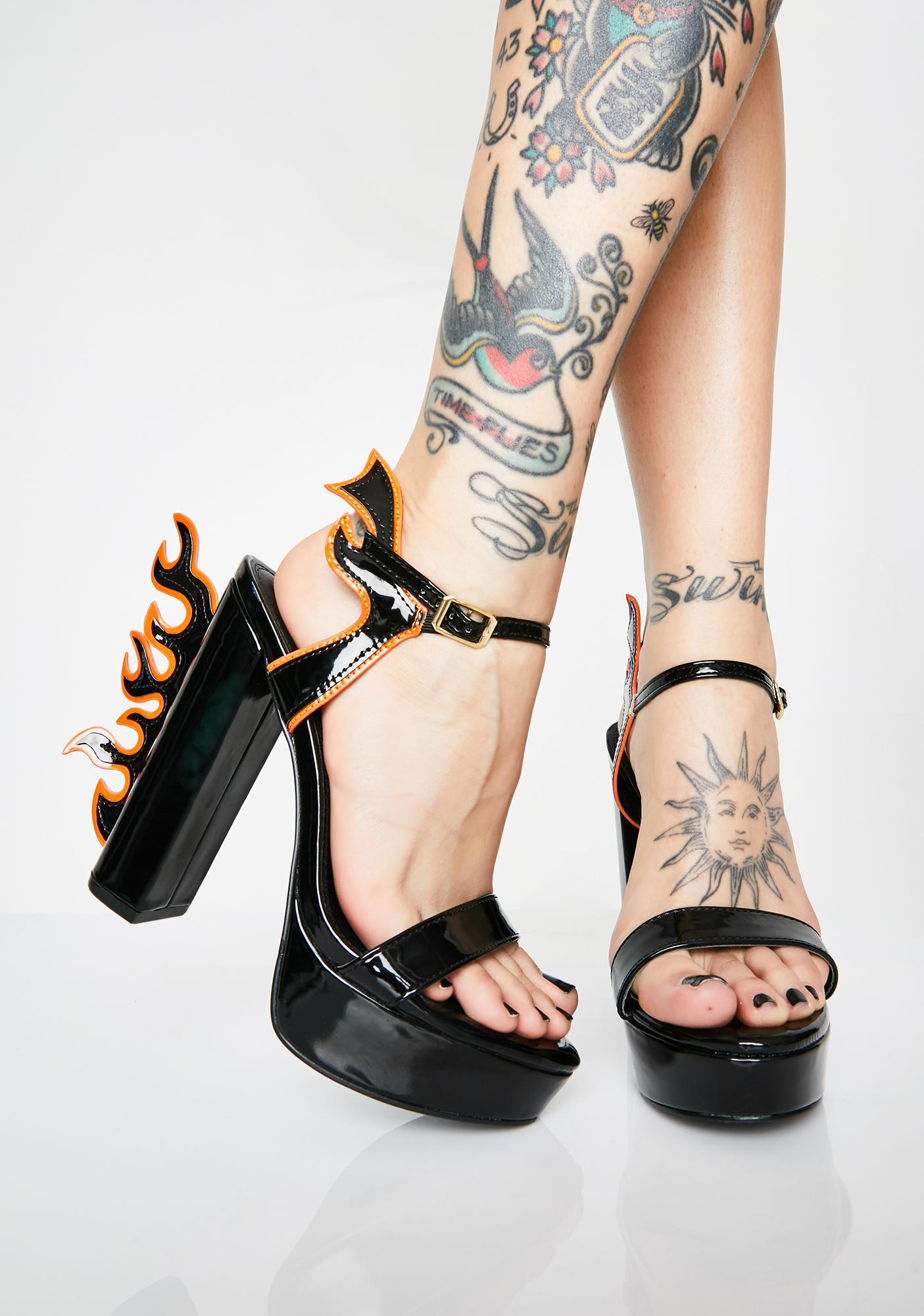 Flame Starter Patent Heels