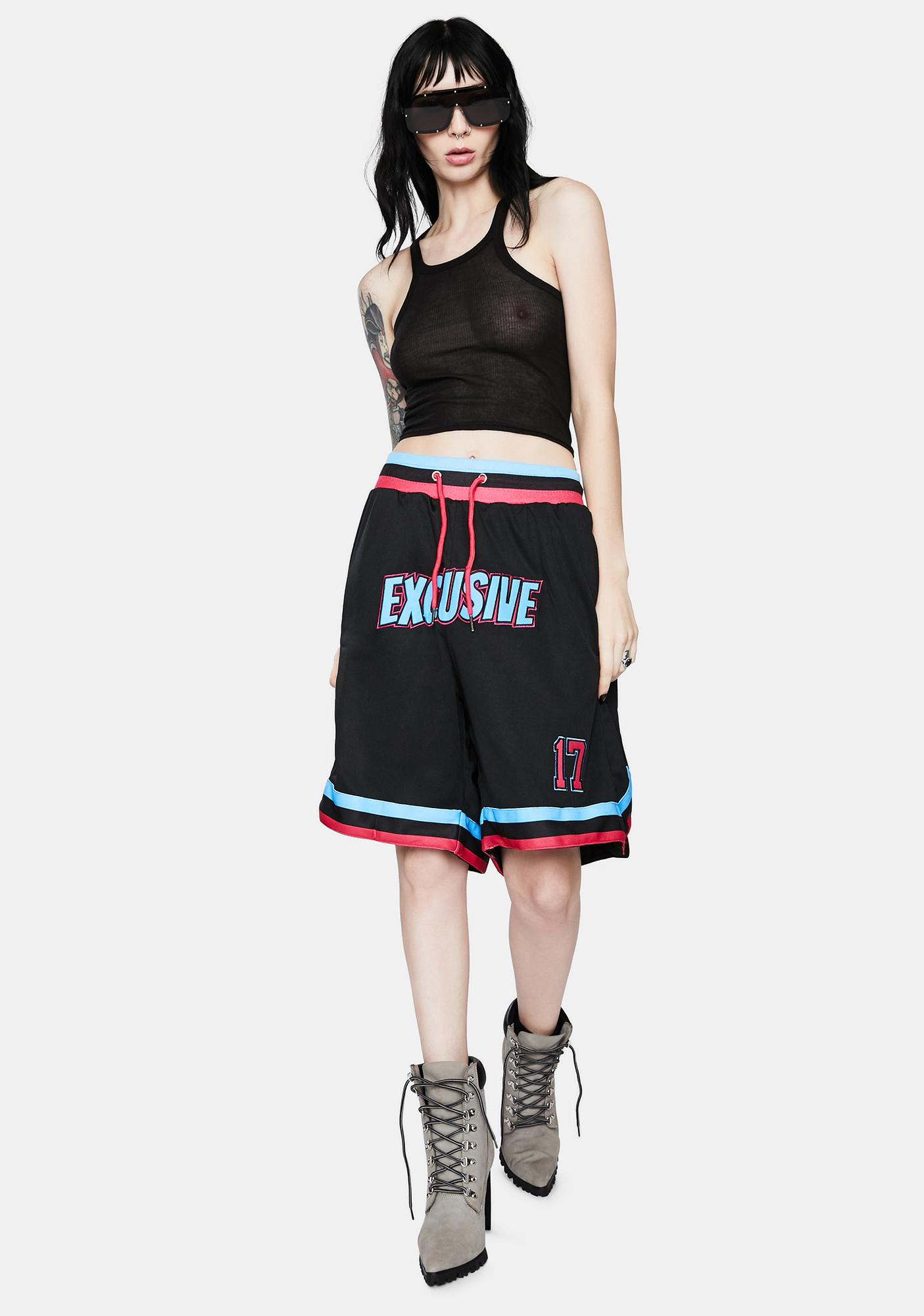 EXCLUSIVE DELIVERY CO. Exclusive Basketball Shorts