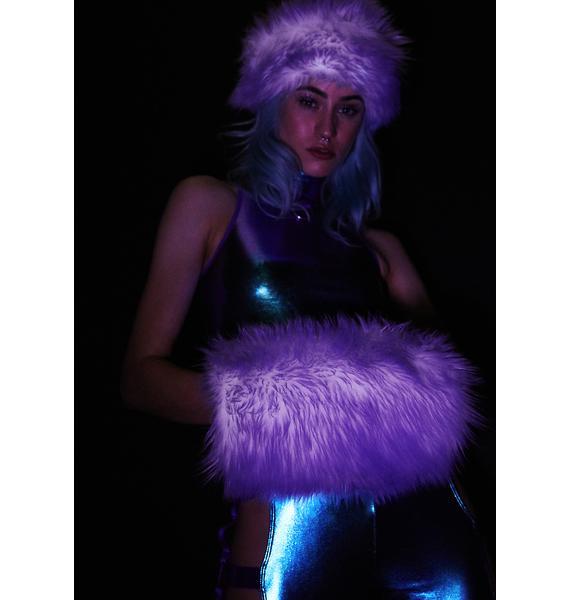 J Valentine Lilac Light Up Muff