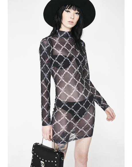 Barbwire Mesh Dress