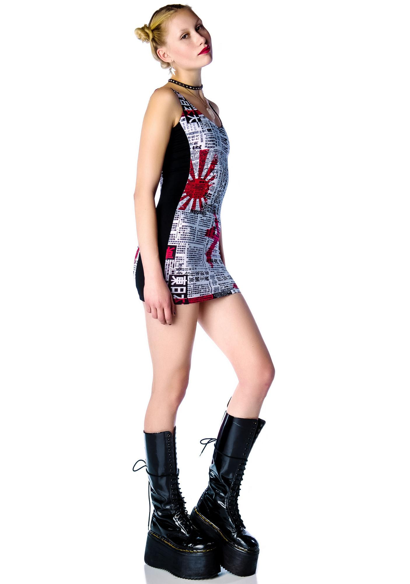 Lip Service Japanese Printed Mini Dress