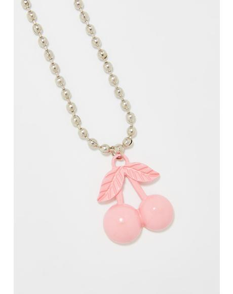Cherry Bombz Chain Necklace