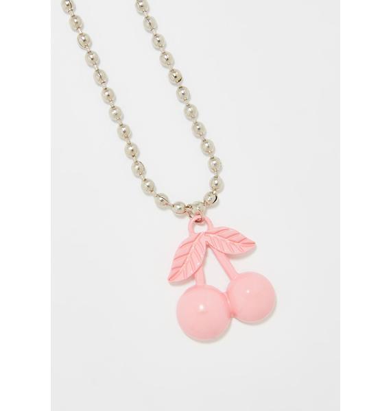Cherry Bombz Chain Necklace
