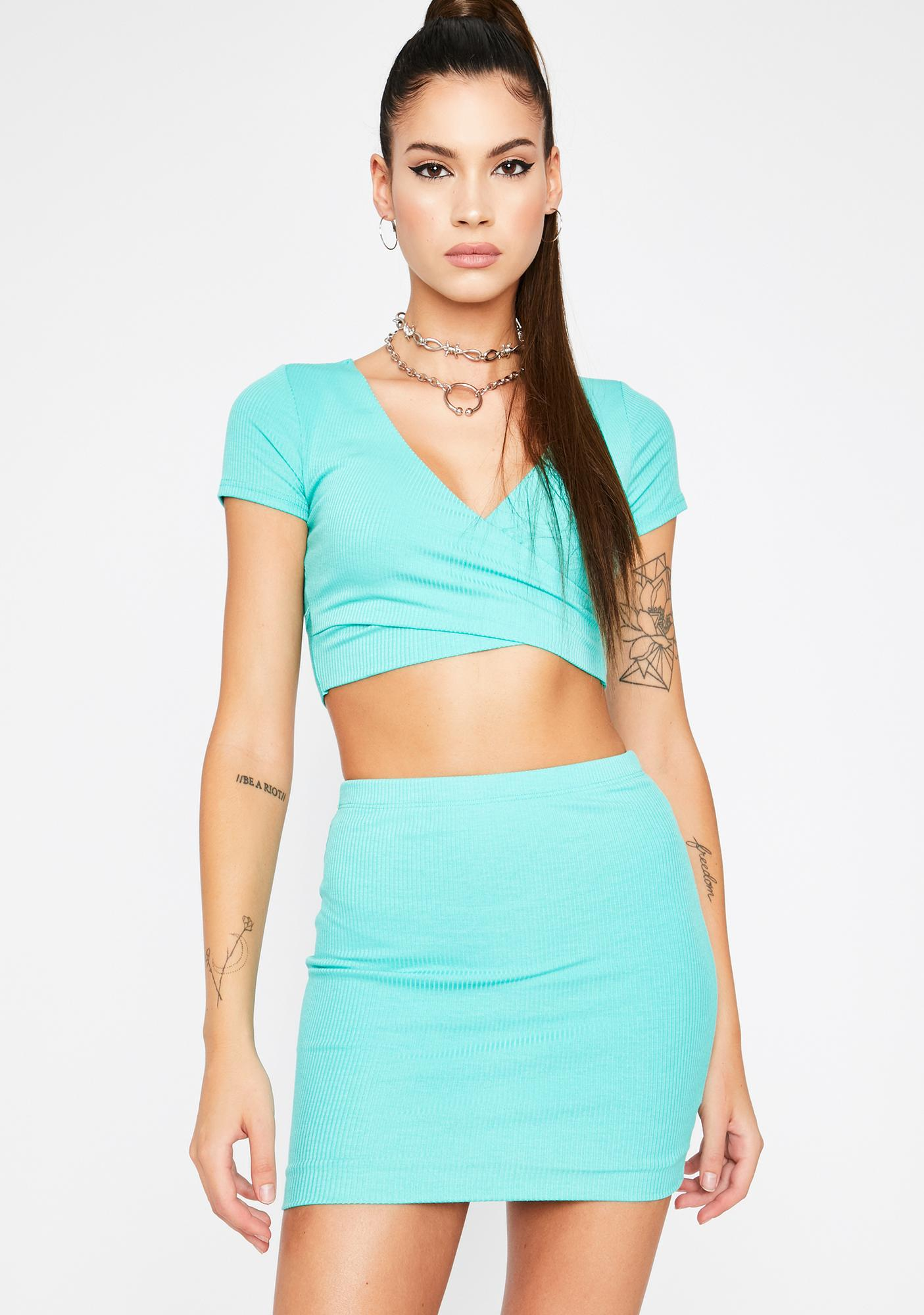 Wavy Lowkey Thottie Skirt Set