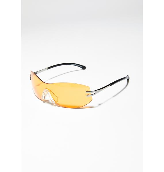 Juiced Above The Clouds Clear Sunglasses