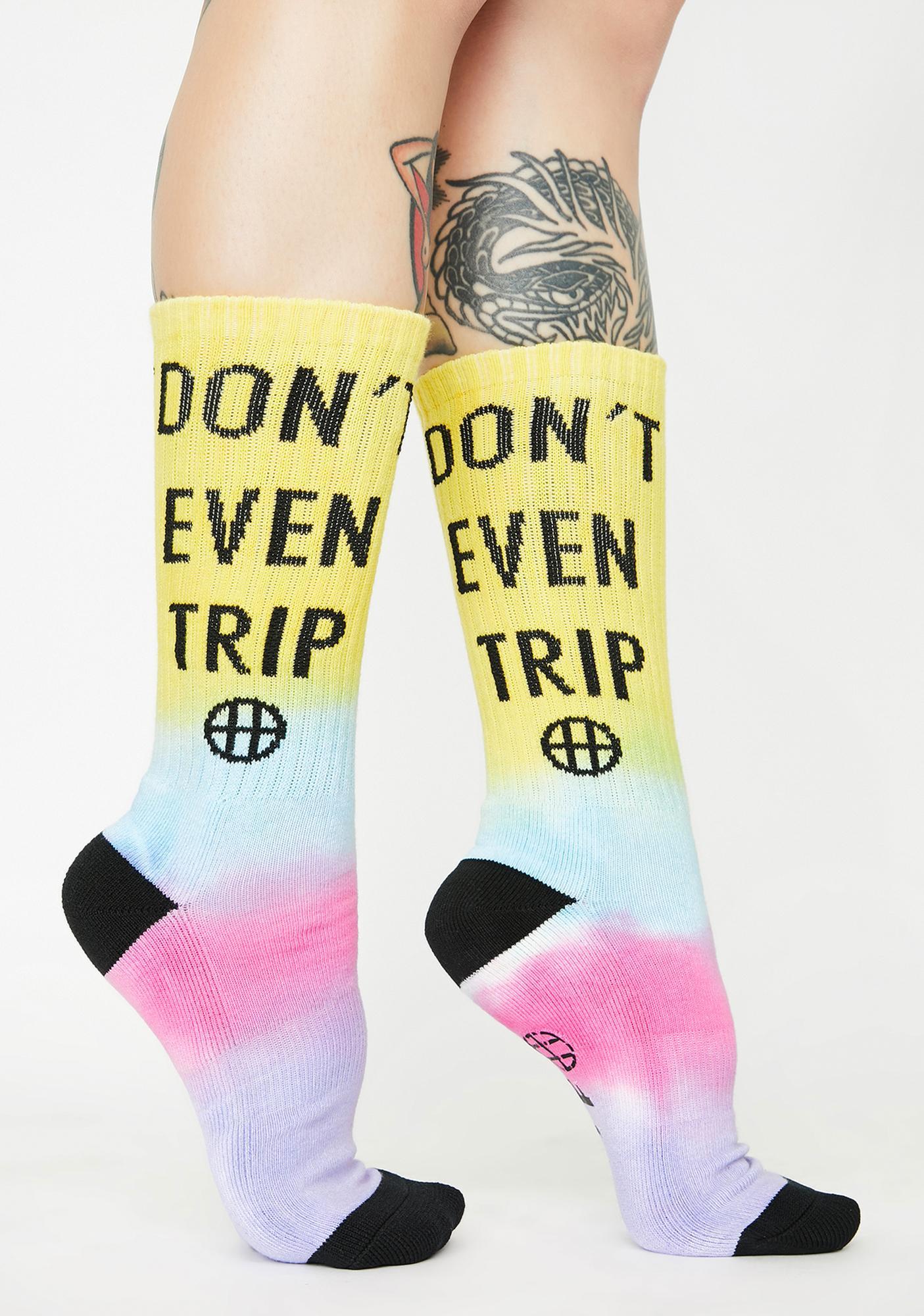 HUF Don't Trip Crew Socks