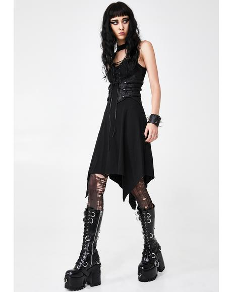 Dark Punk Mini Dress