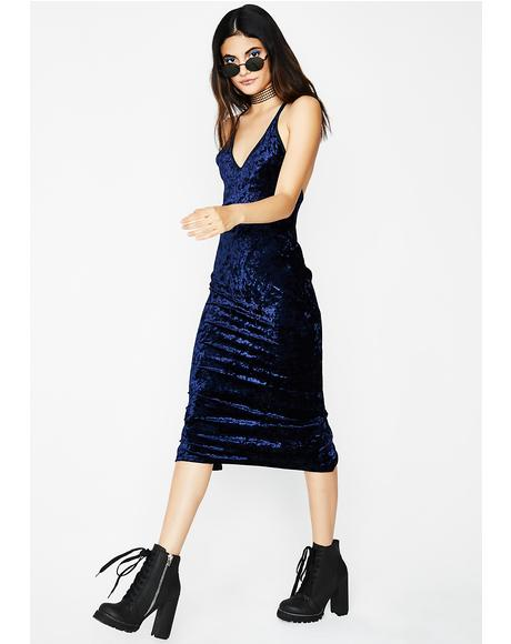 In The Mood Velvet Dress