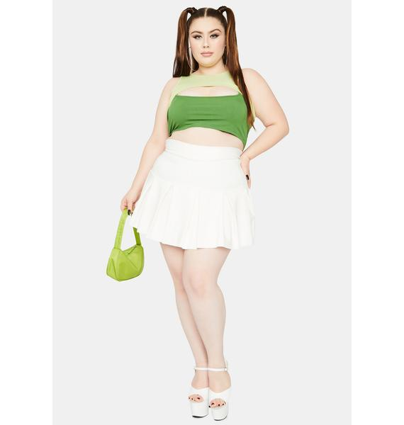 Lush I'm Double The Trouble Two Tone Cutout Crop Top