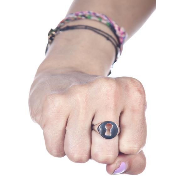 Stolen Girlfriends Club Keyhole Ring