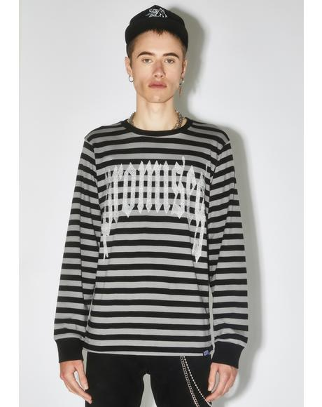 3M Reflective Ruthless Stripe Long Sleeve Tee