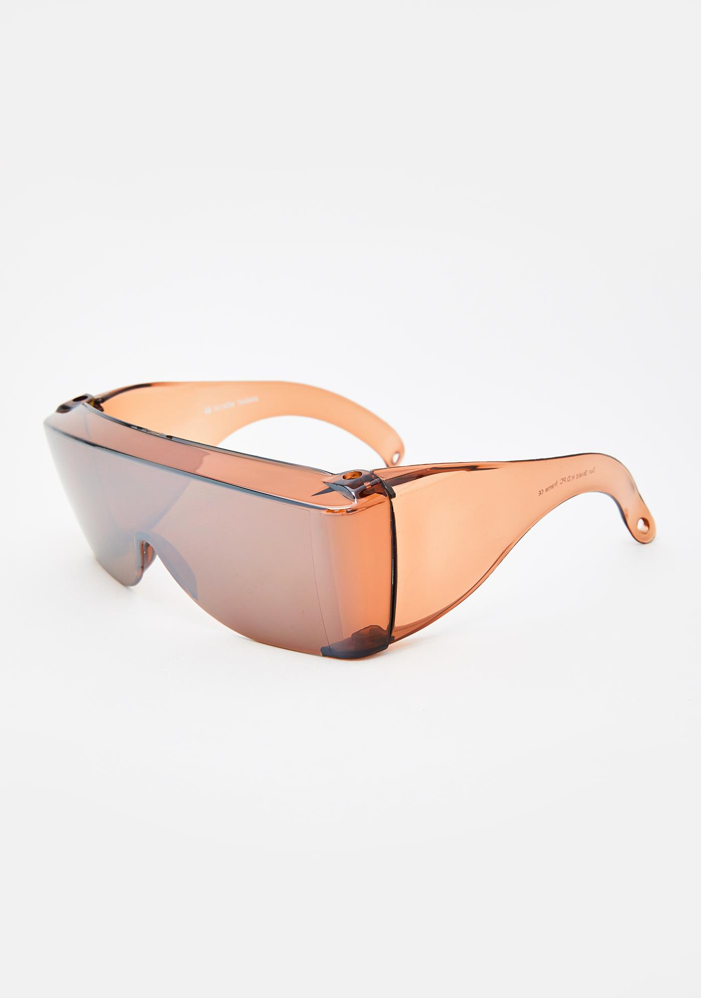 Good Times Eyewear Delorean Shield Sunglasses