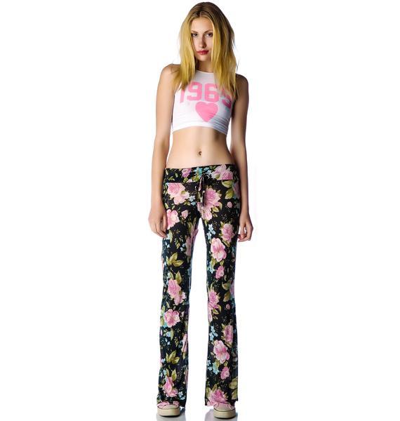 Wildfox Couture Grunge Rose SilverLake Pants
