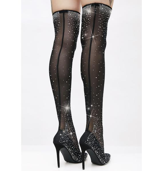 Starry Night Thigh-High Boots
