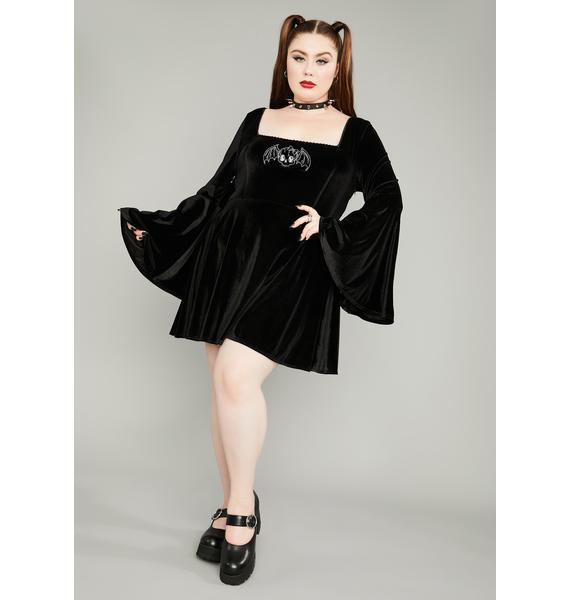 Widow Her Burial Ground Velvet Mini Dress