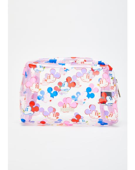 x Disney Mickey Face Makeup Bag