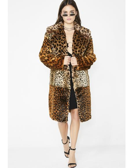 Party Animal Faux Fur Coat